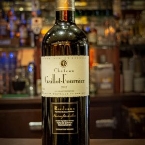 VIN 75cl Gaillot fournier, Vin Rouge Bordeaux
